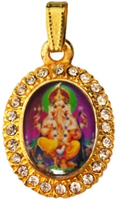 Rich & Famous Lord Ganesha Yellow Gold Alloy Pendant  available at flipkart for Rs.195
