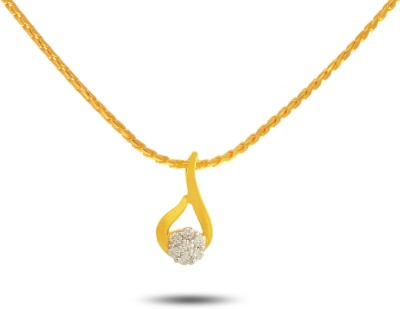 P.N.Gadgil Jewellers Flaming Daisy 18kt Diamond Yellow Gold Pendant(Yellow Gold Plated) at flipkart