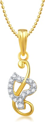 Meenaz Heart pendant Locket With Chain Love valentine gifts Brass Cubic Zirconia, Diamond Alloy Pendant  available at flipkart for Rs.275