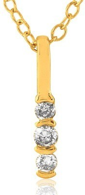 Fullcutdiamond 18kt Diamond Yellow Gold Pendant(Yellow Gold Plated) at flipkart