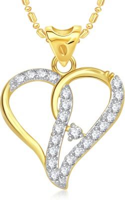 VK Jewels Decent Heart Valentine Gold-plated Cubic Zirconia Alloy Pendant