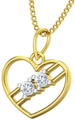 JewelHub 18kt Diamond Yellow Gold Pendant