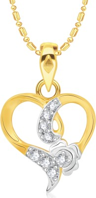 VK Jewels Dizzy heart Gold-plated Cubic Zirconia Alloy Pendant