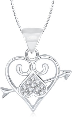 Meenaz Heart Pendant Locket With Chain For Women Love Valentine Gifts Brass Cubic Zirconia, Diamond Alloy Pendant  available at flipkart for Rs.275