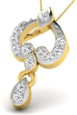 Fullcutdiamond FCDP9748D 18kt Diamond Yellow Gold Pendant(Yellow Gold Plated) at flipkart