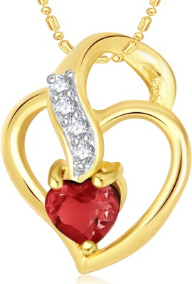 VK Jewels Well Crafted Heart Valentine Gold-plated Cubic Zirconia Alloy Pendant