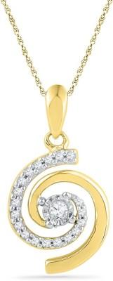 JPearls Sweet 18kt Diamond Yellow Gold Pendant