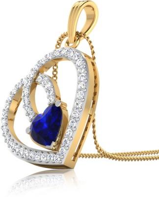 IskiUski Luxuriya Heart 14kt Diamond Yellow Gold Pendant(Yellow Gold Plated) at flipkart