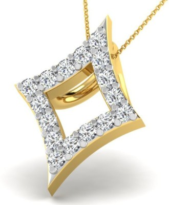 Fullcutdiamond FCDP9724D 18kt Diamond Yellow Gold Pendant(Yellow Gold Plated) at flipkart