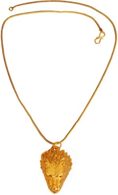 Rich & Famous New Collection Wolf Face Design 24K Yellow Gold Alloy Pendant at flipkart