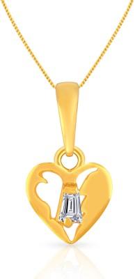MALABAR GOLD   DIAMONDS 22kt Cubic Zirconia Yellow Gold Pendant