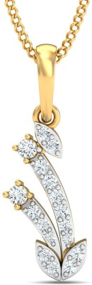 P.N.Gadgil Jewellers 18kt Emerald, Diamond Yellow Gold Pendant P.N.Gadgil Jewellers Pendants   Lockets