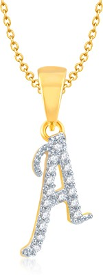 Nevi Star 18K Yellow Gold Swarovski Crystal Alloy Pendant