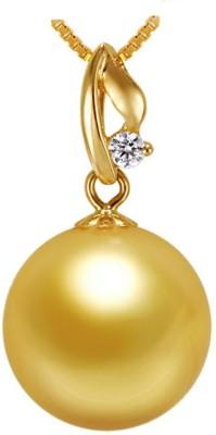 Kiara Jewellery Golden Due Rhodium Swarovski Crystal Sterling Silver Pendant