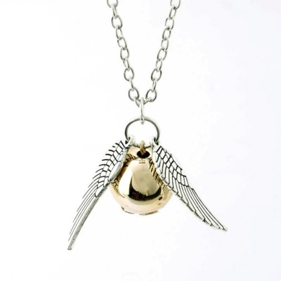 Divastri Harry Potter Golden Snitch Collier Wing Ball Pendant Rhodium Alloy Pendant