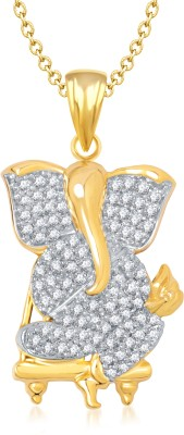 Meenaz Shree God Pendant With Chain Gifts Jewellery Set Gold-plated, Brass Cubic Zirconia, Diamond Alloy Pendant