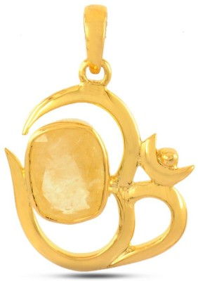 Avaatar 6 Carat Yellow Sapphire 6.25 Ratti Metal Pendant