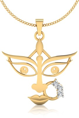 IskiUski The Goddess Durga Diamond Gold-plated Swarovski Zirconia Sterling Silver Pendant