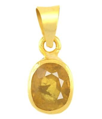 Avaatar 6 Carat Yellow Sapphire Wear 6.25 Ratti Metal Pendant