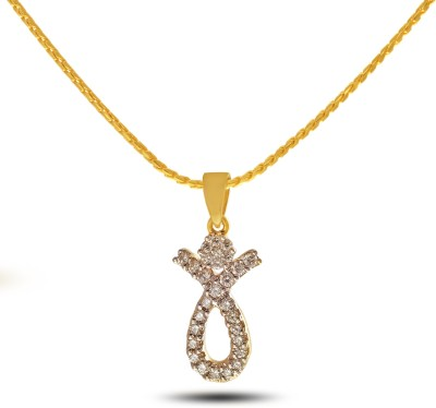 P.N.Gadgil Jewellers Bejewelled Diva 18kt Diamond Yellow Gold Pendant(Yellow Gold Plated) at flipkart