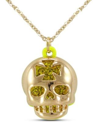 Silverstoli Vintage Jewelry Evil Gentleman Skull Rhodium Cubic Zirconia Alloy Pendant at flipkart