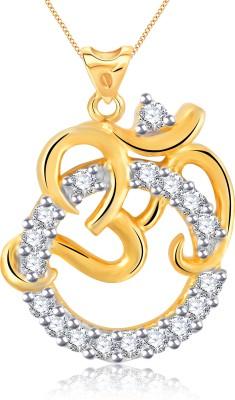 Vidhi Jewels Om 18K Yellow Gold Alloy, Brass Pendant