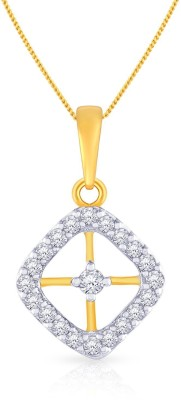 Malabar Gold and Diamonds P652086 18kt Diamond Yellow Gold Pendant