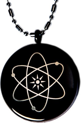 Aarogyam Energy Jewellery Magnetic MST Black Silver Stainless Steel Pendant