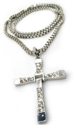 Swank Silver Vin Diesel Inspired Holy Cross 92.5 Cubic Zirconia Sterling Silver Pendant