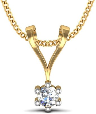 Avsar Katrina 18kt Diamond Yellow Gold Pendant Avsar Pendants   Lockets