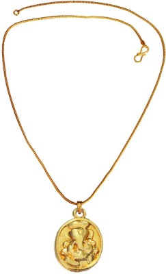 Rich & Famous Religious Lord Ganesha In round Design 24K Yellow Gold Alloy Pendant  available at flipkart for Rs.175