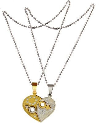 3068a8f490 70% OFF on Men Style Couple Heart Shape SPn001064 Stainless Steel Pendant  on Flipkart | PaisaWapas.com