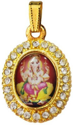 Rich & Famous Religious Lord Ganesha Stone Studed Alloy Pendant  available at flipkart for Rs.175