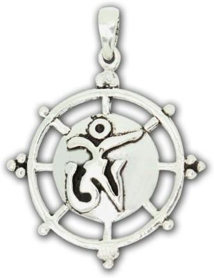 Frabjous Designer OM in Circular Engraving German Silver Alloy Pendant