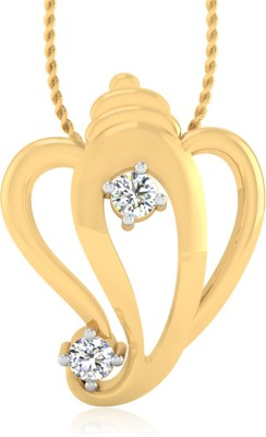 IskiUski Ganesha 14kt Diamond Yellow Gold Pendant IskiUski Pendants   Lockets
