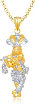 Meenaz Balaji God Pendant With Chain Gifts Jewellery Set Brass, Yellow Gold Cubic Zirconia, Diamond Alloy Pendant
