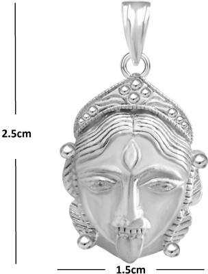 The Marketvilla Jai Maa Kaali Goddess Kali Ma Durga Maata Devi Mataji God Locket 925 Rhodium Cubic Zirconia Silver, Sterling Silver Pendant