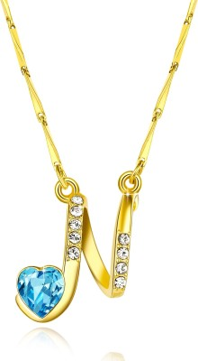Yellow Chimes Alphabet Collection Pendant Rhodium Swarovski Crystal Alloy Pendant at flipkart