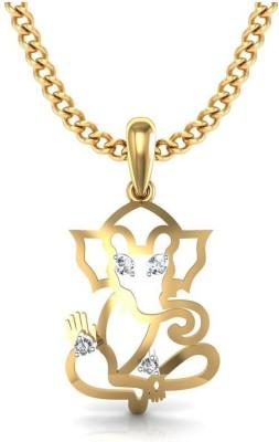 avsar Ganesha 18kt Diamond Yellow Gold Pendant avsar Pendants   Lockets