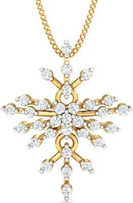 P.N.Gadgil Jewellers 18kt Diamond Yellow Gold Pendant
