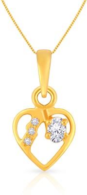 Malabar Gold and Diamonds 22kt Cubic Zirconia Yellow Gold Pendant