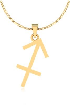 IskiUski Dhanu Zodiac 14kt Yellow Gold Pendant IskiUski Pendants   Lockets