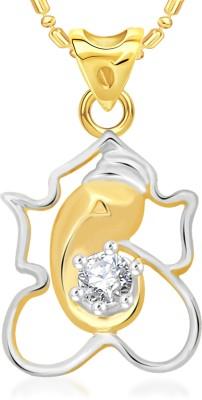 VK Jewels Ekaakshara 18K Yellow Gold Cubic Zirconia Alloy Pendant