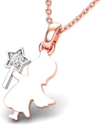 Theme Jewels LPT 0156 14KP 14kt Diamond Rose Gold Pendant