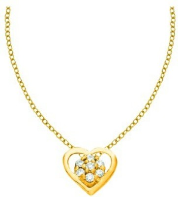 His & Her HHPXP8814_Y 18kt Diamond Yellow Gold Pendant(Yellow Gold Plated) at flipkart