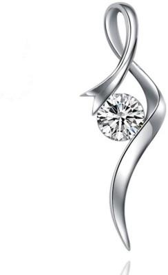 Kiara Jewellery Solitaire Dazzle Rhodium Swarovski Crystal Sterling Silver Pendant