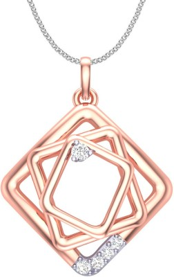 Clara Rabia 18K Rose Gold Cubic Zirconia Sterling Silver Pendant