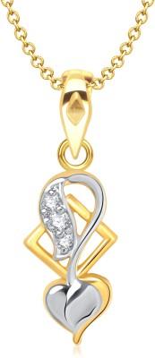 VK Jewels Sweet Love Heart Shape Gold-plated Cubic Zirconia Alloy Pendant