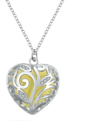 Creative India Exports Women Glow Heart of Winter Sterling Silver Metal Pendant Set
