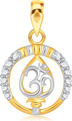 VK Jewels Om Gold-plated Cubic Zirconia Alloy Pendant